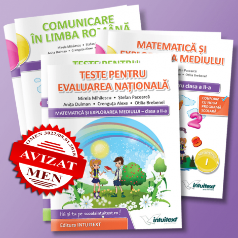 Set Complet Caiete Clasa a II-a - potrivite manualelor Intuitext