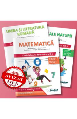 Set caiete LLR + Matematică și Știinte ale Naturii clasa a III-a