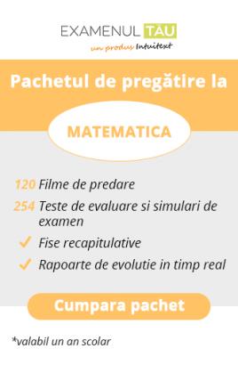 ExamenulTau.ro - Licenţă Matematică -  1 an