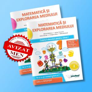 Matematică şi explorarea mediului - Caietul elevului pentru clasa I - potrivit manualului Intuitext