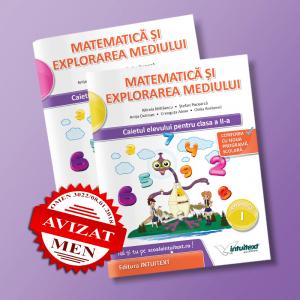Matematică şi explorarea mediului - Caietul elevului pentru clasa a II-a - potrivit manualului Intuitext