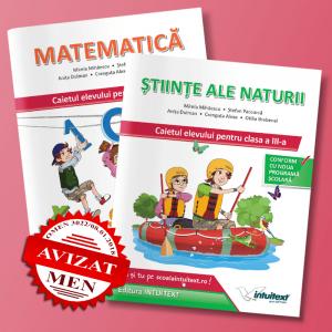 Set caiete Matematică și Științe ale Naturii clasa a III-a