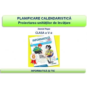 Planificare şi proiectare clasa a V-a - Informatică şi TIC