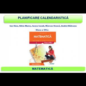 Planificare şi proiectare clasa a VII-a - Matematică